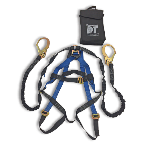 Double Leg Harness Kit w/Integrated Lanyard & Rebar Hooks
