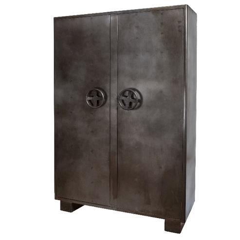 Metall Kleiderschrank Industrial Chic Tresor Look Moebeldeal Com Versandkostenfreie Mobel Online Bestellen Schrank Regale Metallschranke Online Mobel