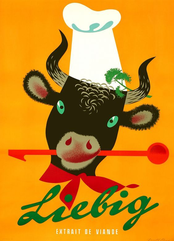 Saved fromInternational Poster GalleryVisitBrun, Donald: Liebig - Extrait de Viande - Vintage Ad Poster