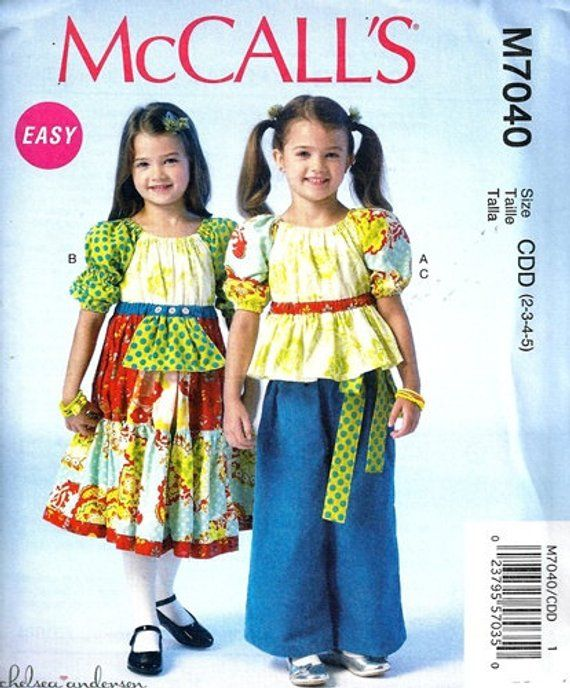 258bf1d12d3 GIRLS CLOTHES PATTERN   Boutique Style Dress - Top - Pants   Sizes 2-5 or  6-8