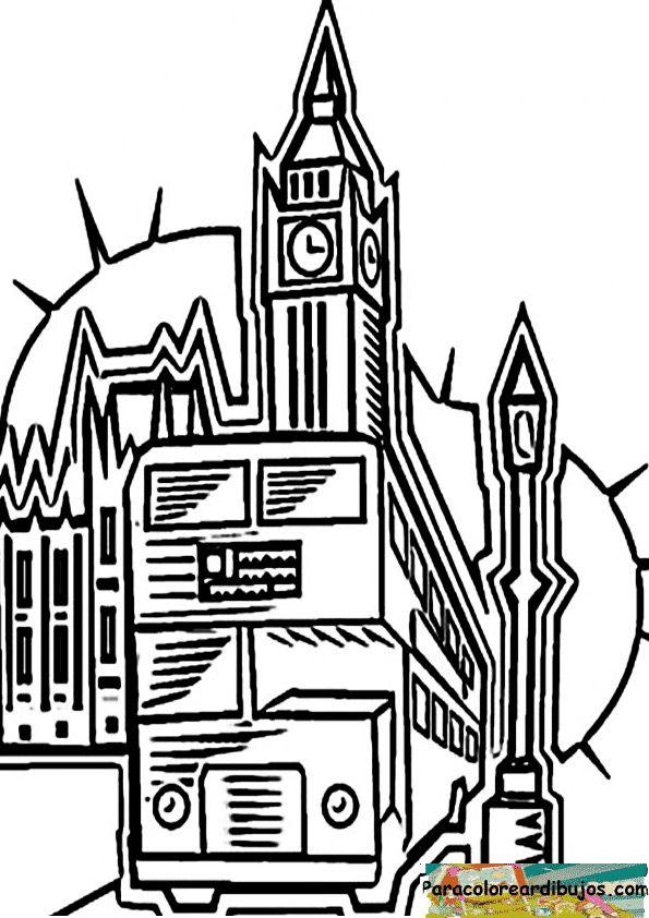 Londres Para Pintar E Imprimir
