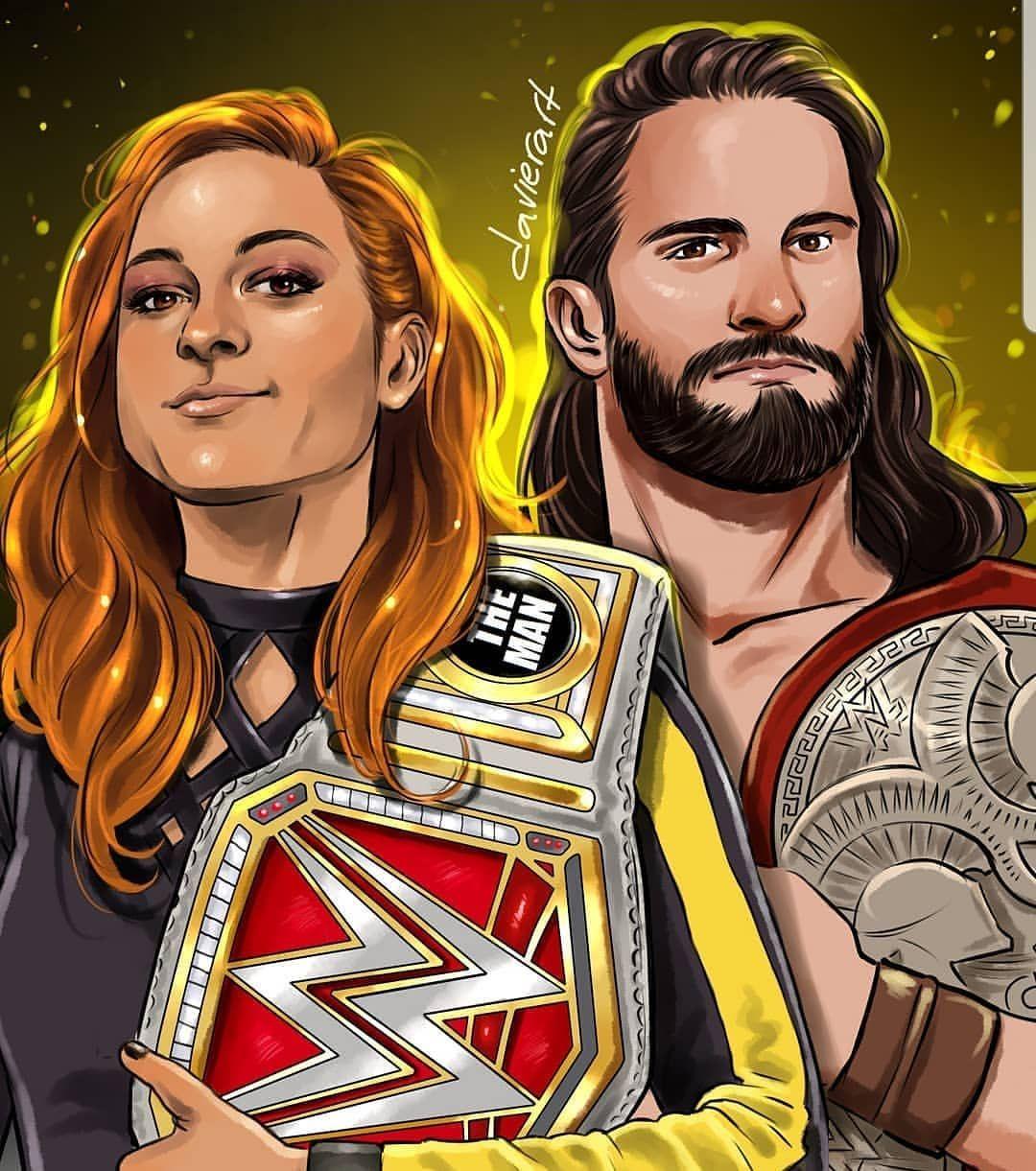 Very Creative Artwork Becky And Seth Becky Wwe Wwe Couples Wwe Seth Rollins