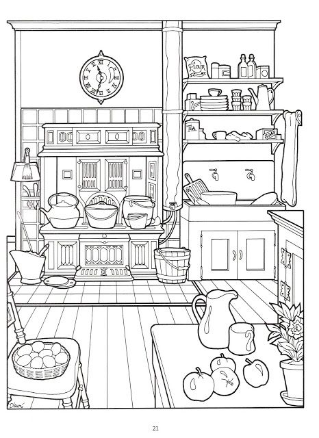 victorian coloring pages to print - photo#43