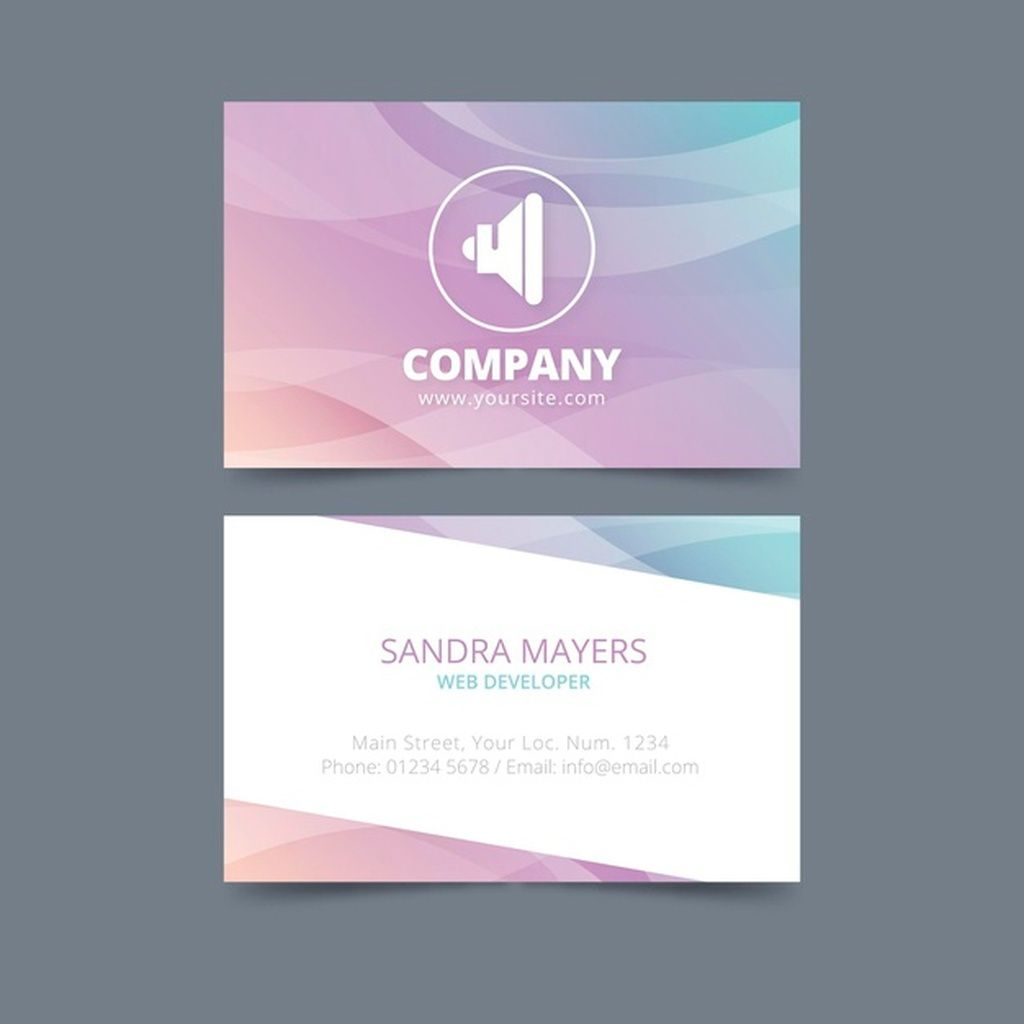 Pastel Gradient Template For Business Cards Paid Ad Ad Gradient Cards Business Pastel Creative Flyer Design Pastel Gradient Creative Flyers