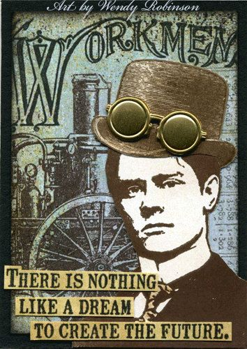 Steampunk Works Rubber Stamp Collection.  via Etsy.