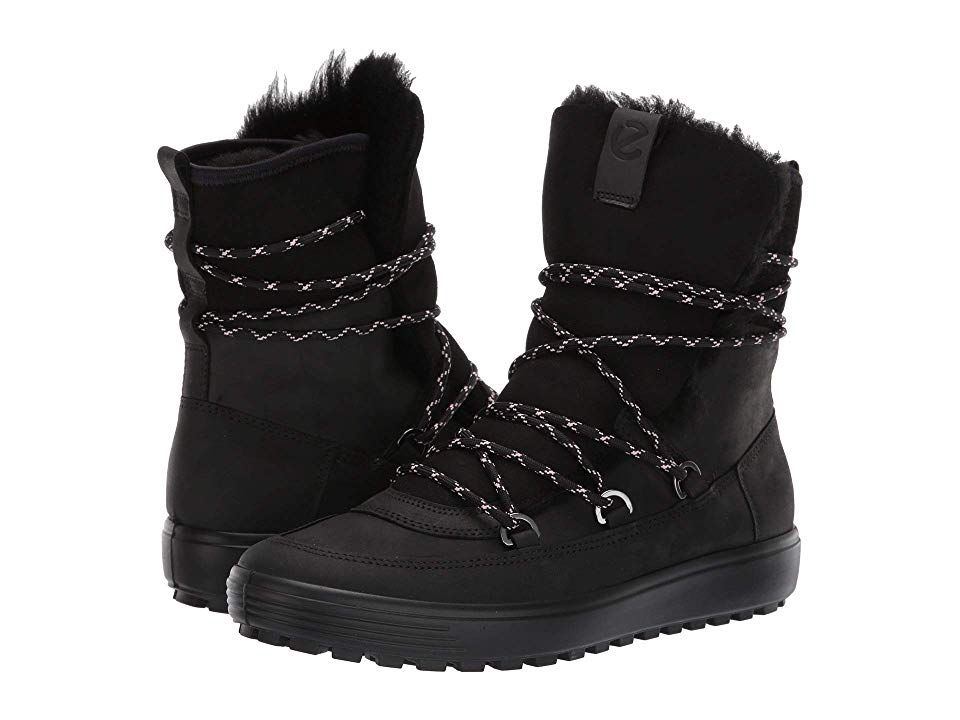 f724797c23 ECCO Soft 7 Tred Mid (Black/Black) Women's Shoes. No matter how cold ...