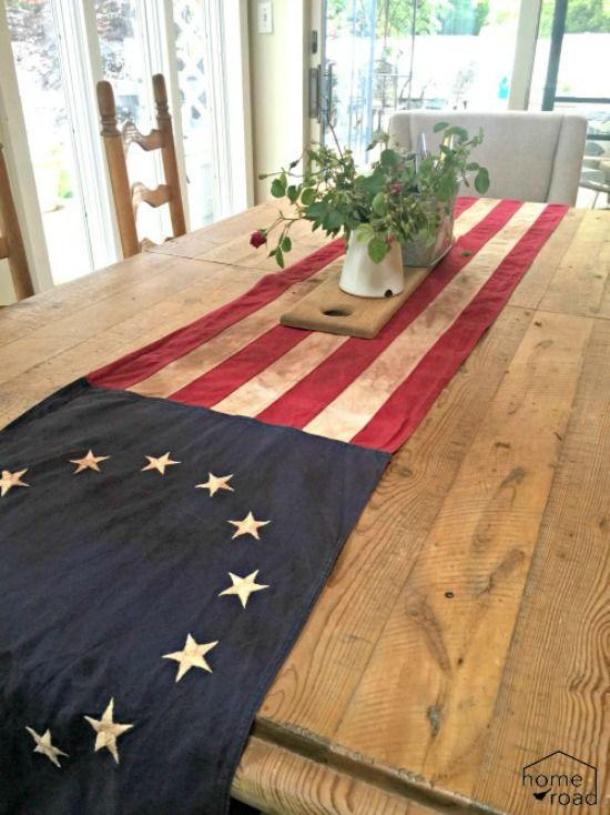 american flag table runner recycle repurpose american flag rh pinterest com