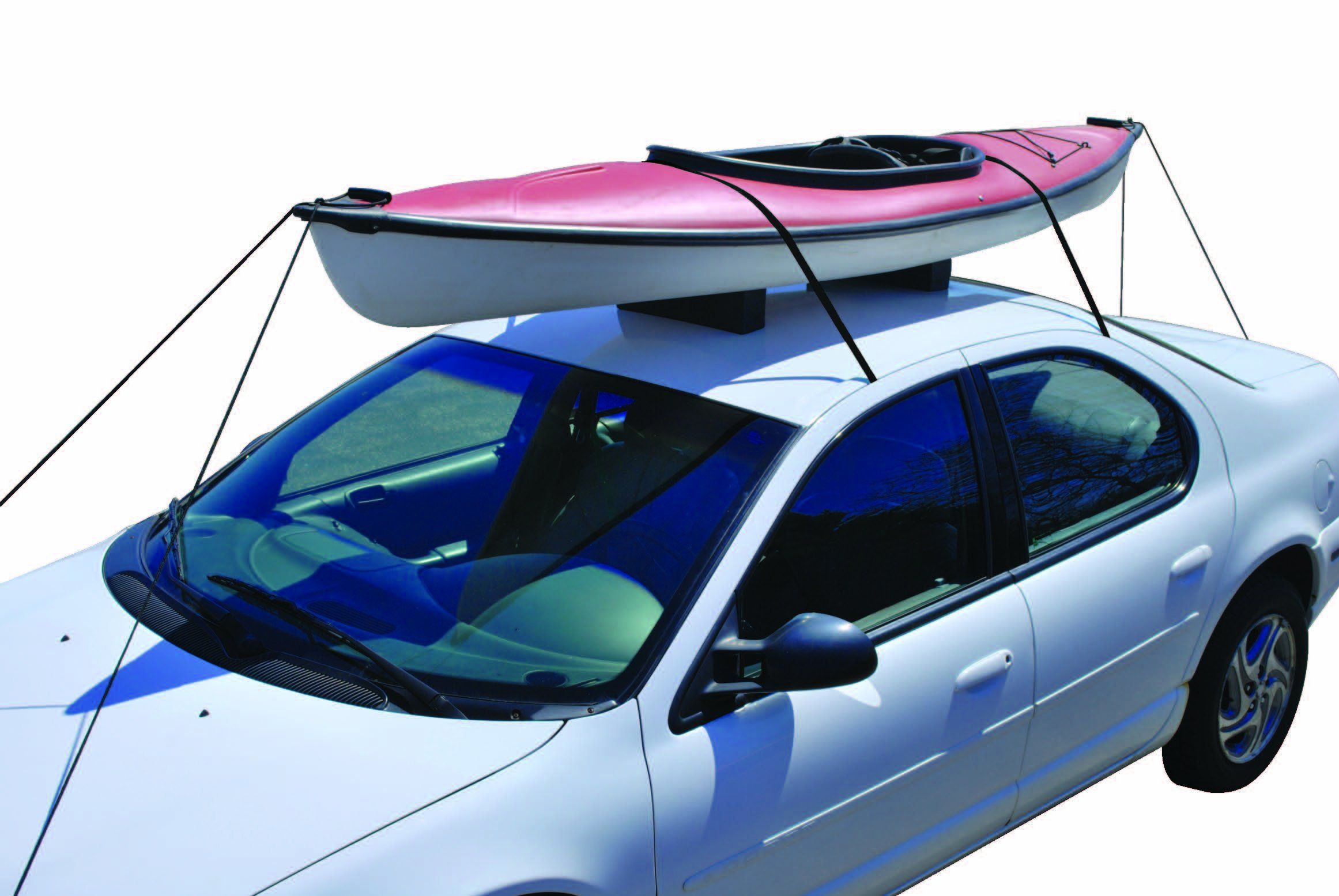 Car Top Kayak Carrier Kit To Carry Your Boat On An Auto Roof On