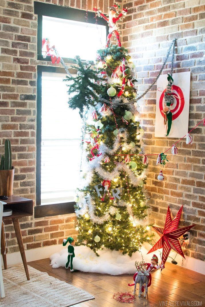 Mischievous Elf Mayhem Christmas Tree   Elves, Christmas tree and Crafty