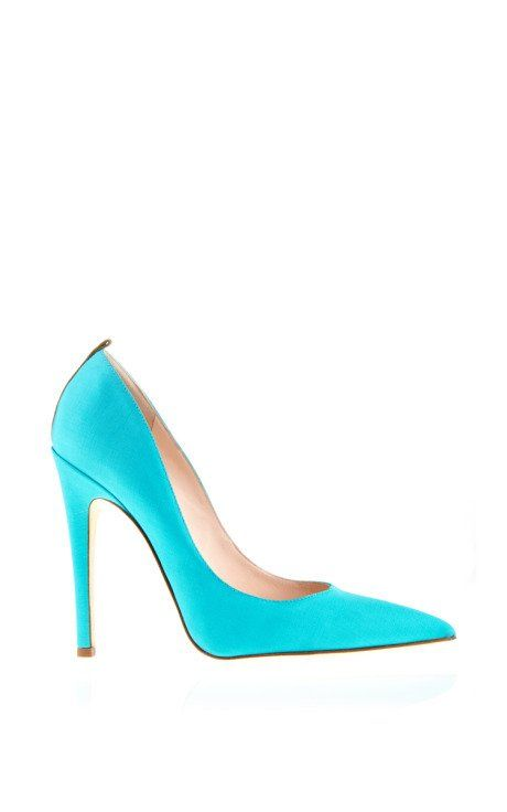 SJPxTOME Pump In Turquoise by SJP Shoes for Preorder on Moda Operandi