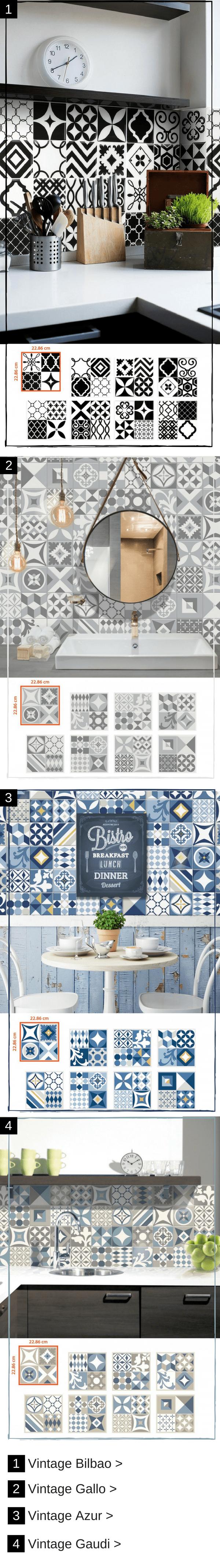Ces Plaques De Carrelage Adhesif Imitent Les Carreaux De Ciment Carrelage Adhesif Carrelage Carreau De Ciment