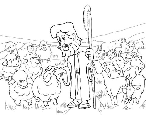 Parable of the Sheep and the Goats Coloring page | Sunday School ...