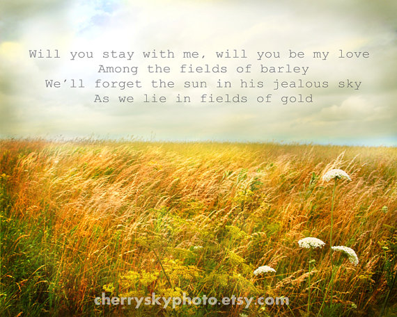 fields of gold vintage style farm sunbeams love romantic sting