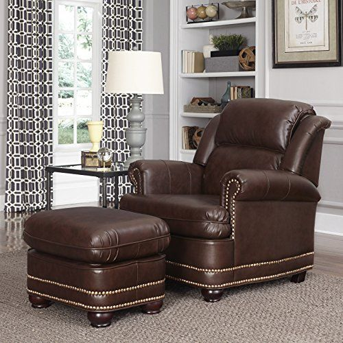 Home Styles 5200 100 Beau Stationary Chair And Ottoman, Brown