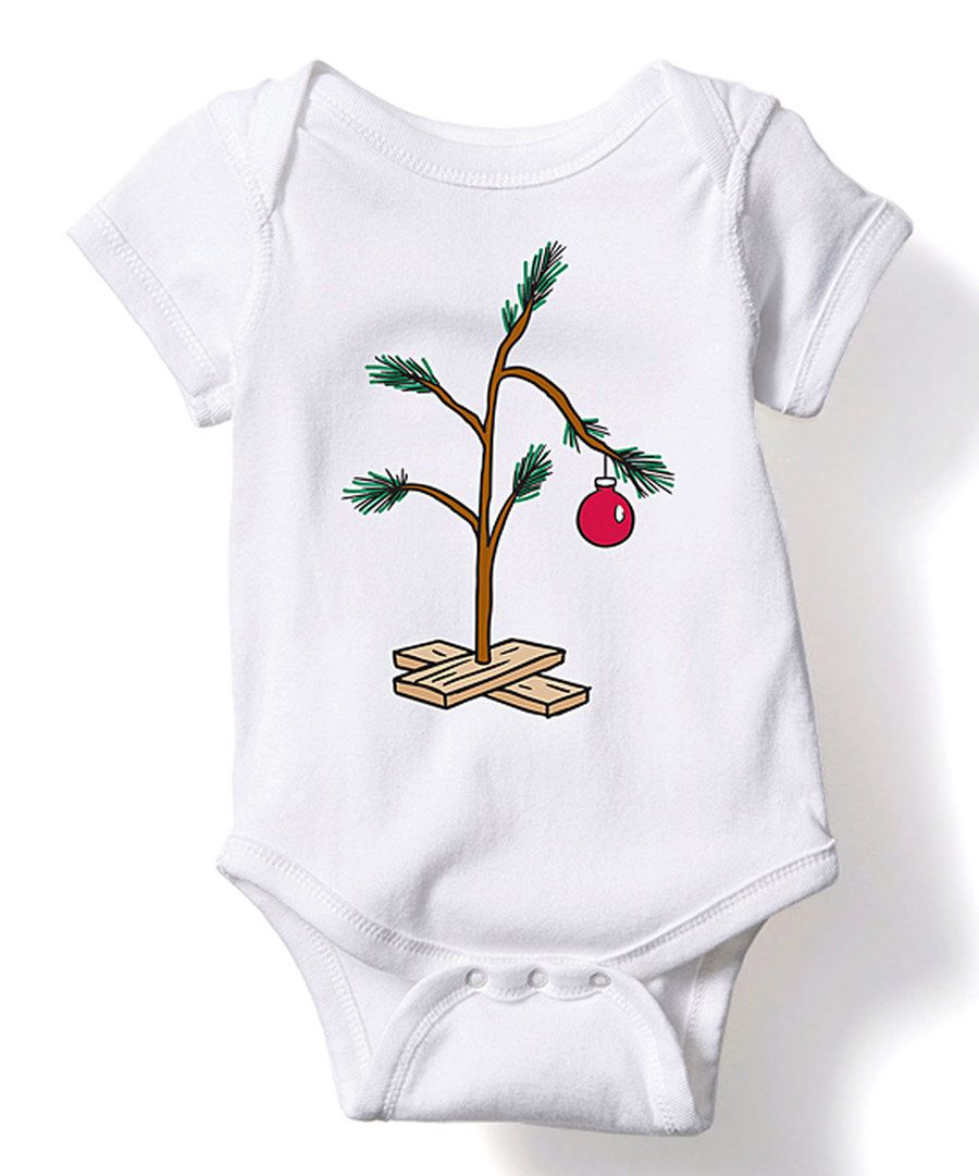 Look at this White Sad Christmas Tree Bodysuit - Infant on #zulily ...
