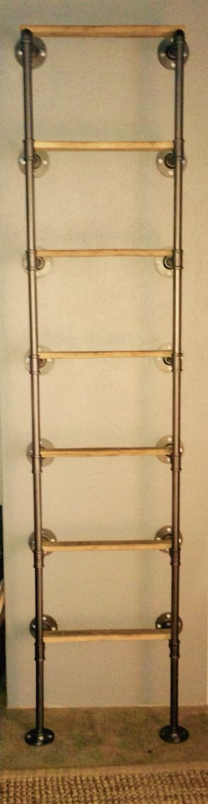 A Ladder For The Boys Loft Made From Galvanized Plumbing