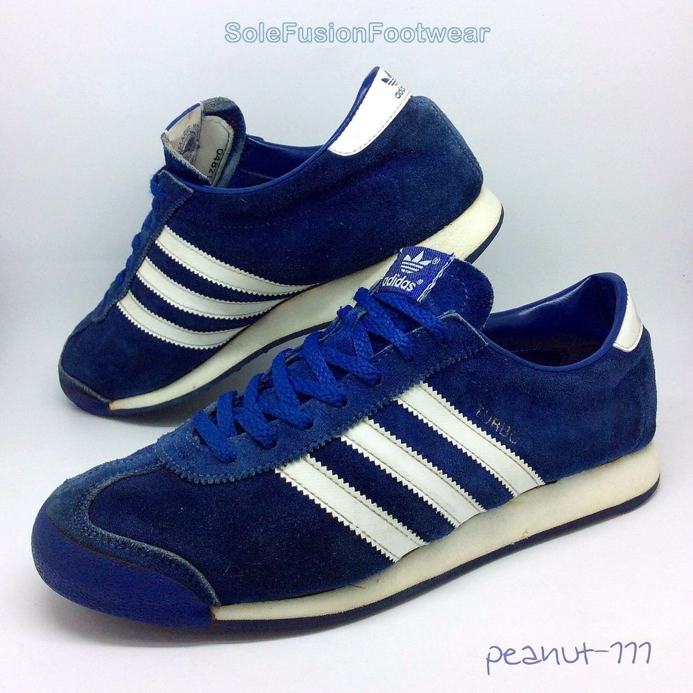adidas Originals mens TURBO Trainers Blue sz 11 Rare VTG Sneakers US 11.5 EU 46  | eBay