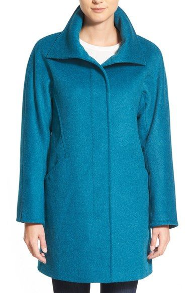 Main Image - Ellen Tracy Convertible Collar Kimono Sleeve Coat (Regular & Petite) (Nordstrom Exclusive)