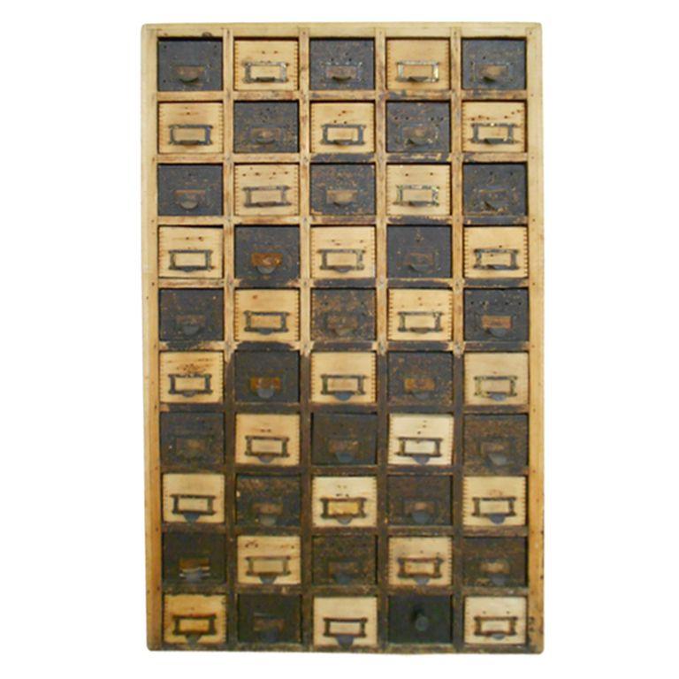 /\ /\ . Checkerboard Pine Cabinet