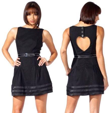 Vestido negro en forma de corazon