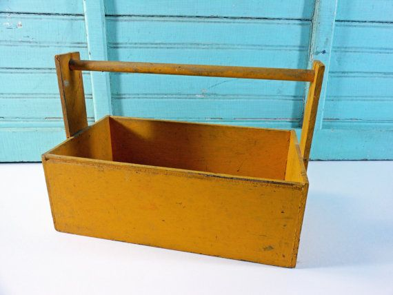 Boxes/chests Vintage Wooden Trug With Wrought Iron Mounts