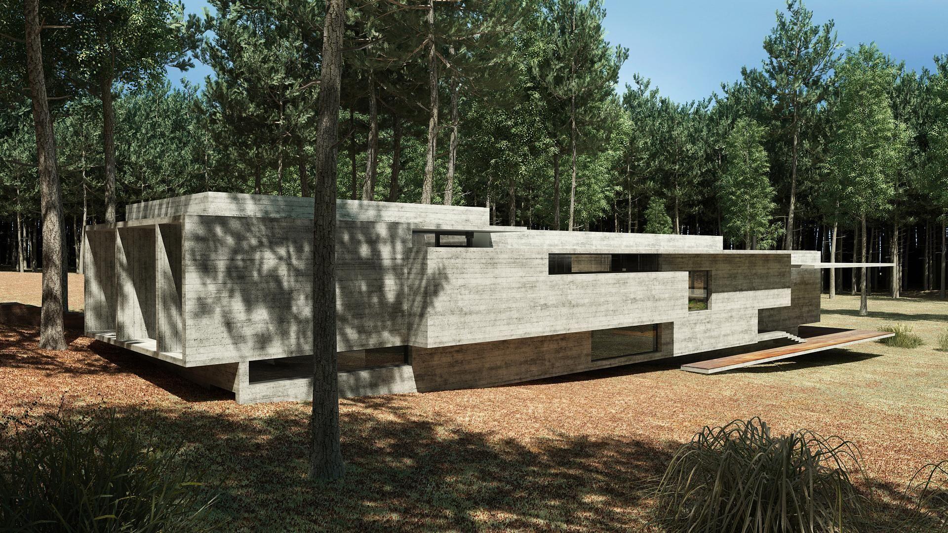 Casa Bosque Besonias Almeida Arquitectos Archello Forest House Architecture Architecture House