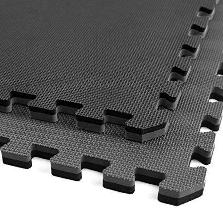 IncStores Home Gym Flooring Interlocking Rubber Tiles Exercise /& Equipment Mats 4 Tiles, 16 Sqft