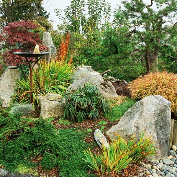 gartengestaltung mit steinen und frische pflanzen - 53 - gartengestaltung mit steinen und pflanzen