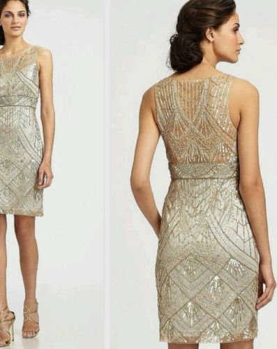 Nwt Sue Wong 1920s Gatsby Sequin Wedding Art Deco Cocktail Gown