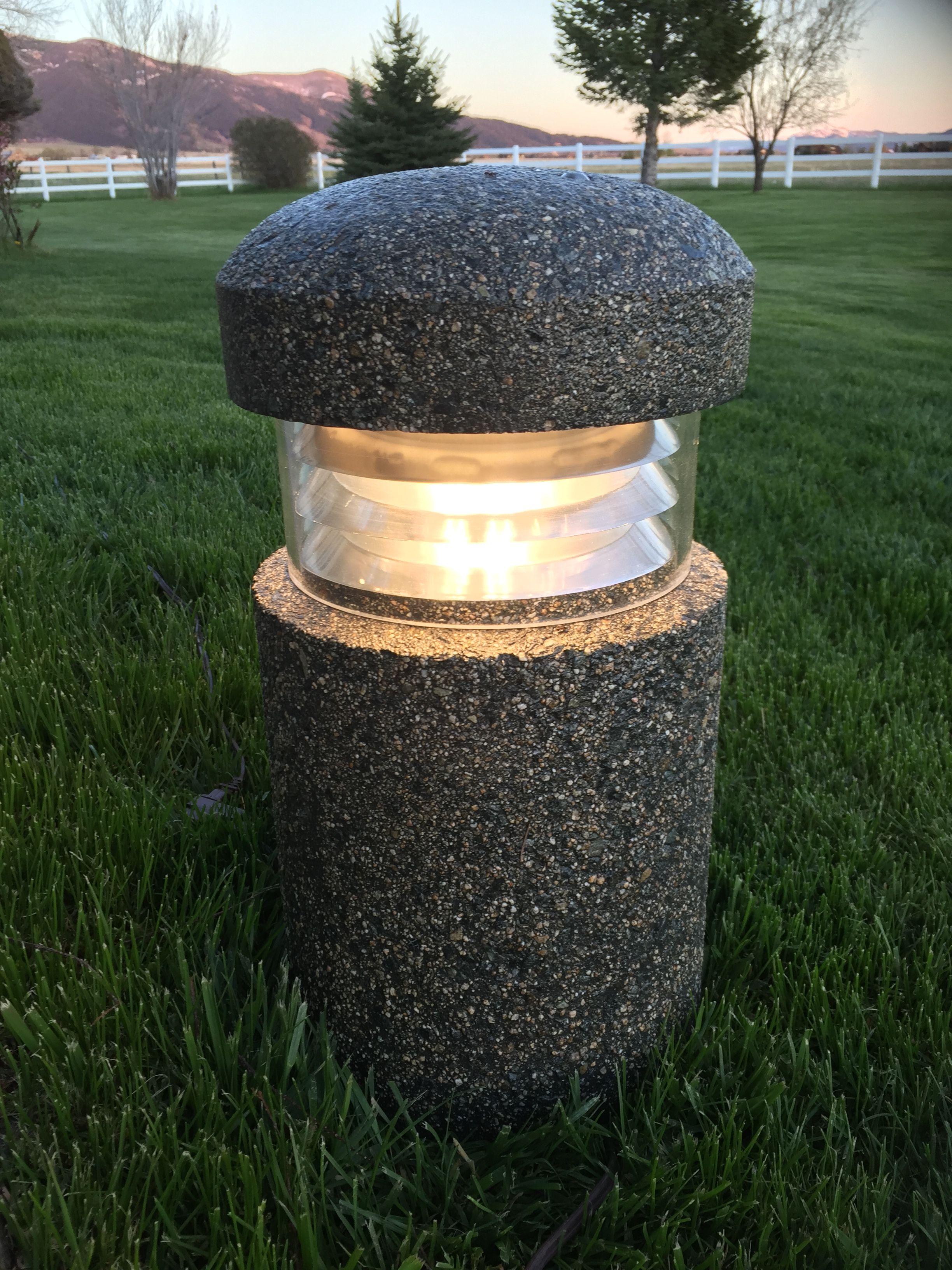 Concrete Bollard. Pathway lighting. Precast concrete