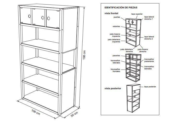 Planos para construir muebles de madera for Planos de muebles de cocina pdf