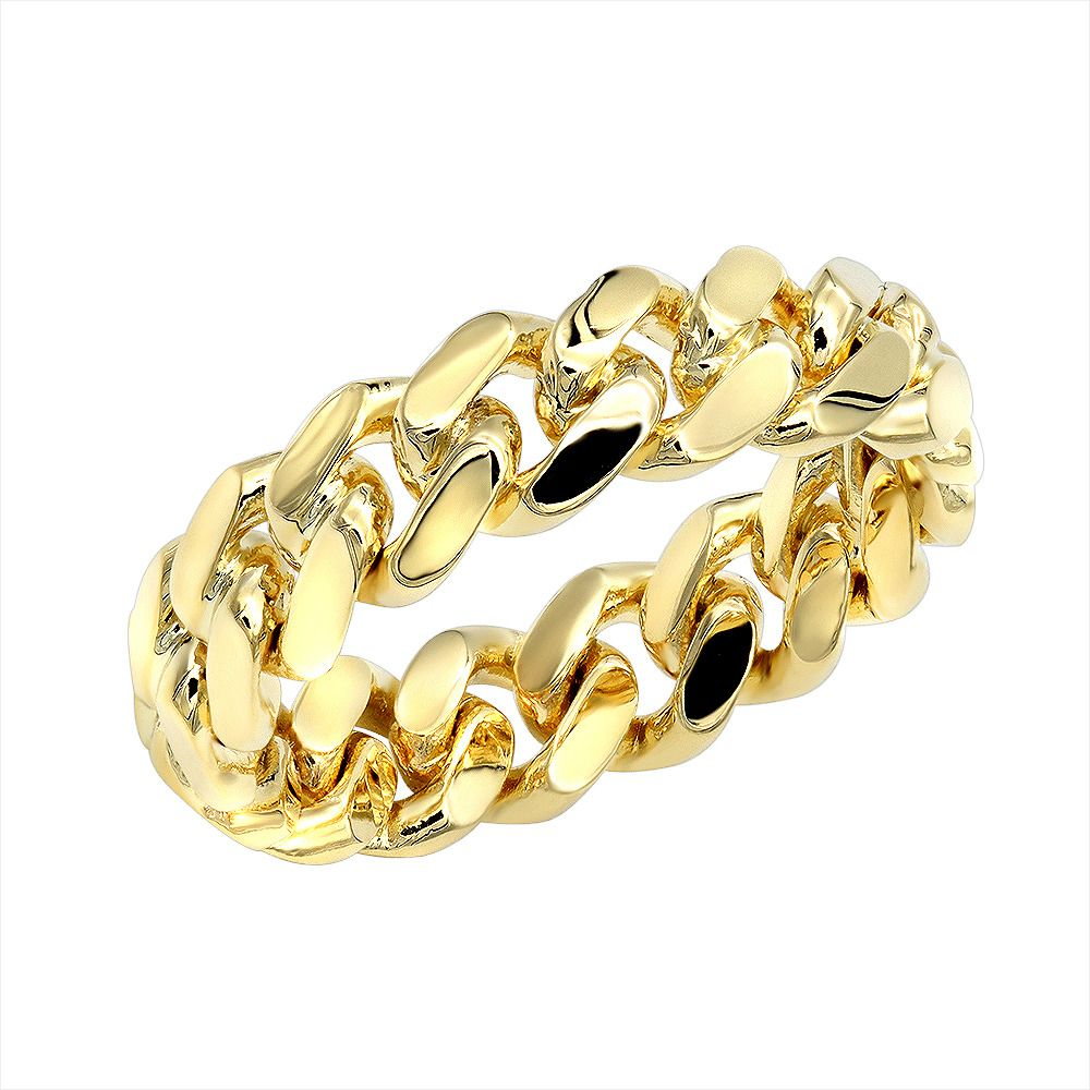 70 Best Of Gold Cuban Link Ring Le572 Rings For Men Linking Rings Mens Gold Rings