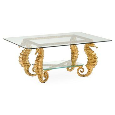 Check Out This Item At One Kings Lane! Seahorse Coffee Table, Gold
