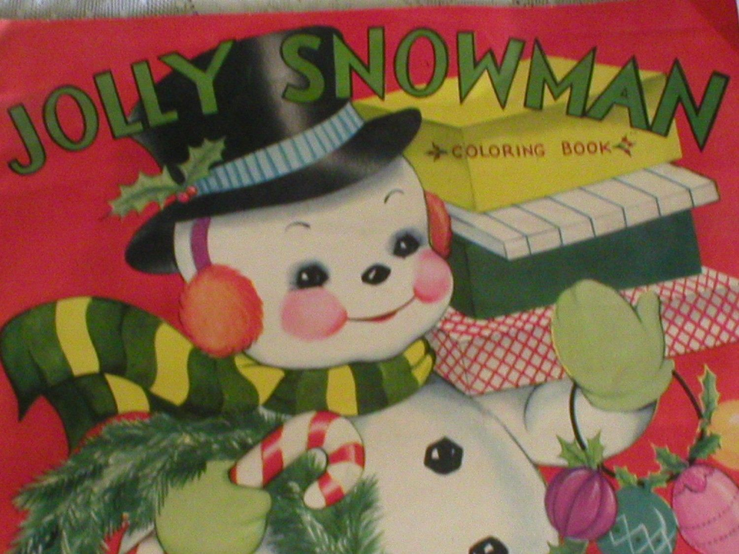 Image detail for -Christmas Coloring Book Jolly Snowman Large ...