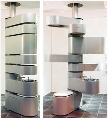 Merveilleux The Future Bathroom Lol! Saves Space. Space Saving BathroomSmall Bathroom  IdeasTiny ...