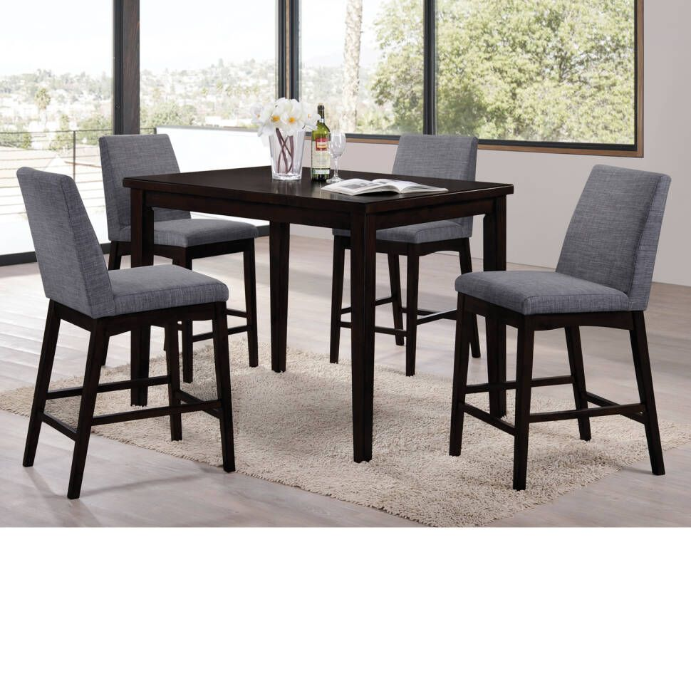 Erdman 5 Piece Bar Height Dining Set Reviews Joss Main Counter Height Dining Room Tables Pub Style Table Dining Table In Kitchen