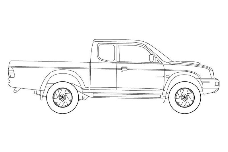 Mitsubishi L200 Cars Coloring Pages Chevy Avalanche Toyota Hilux