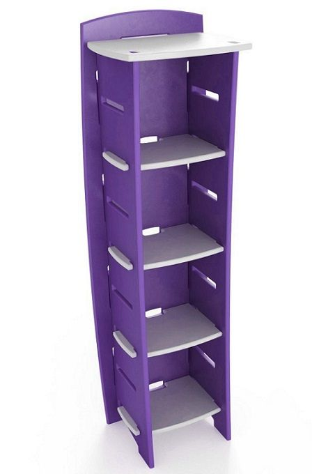 An HTC One Blue Would Look Adorable On The Top Of This Perfect Dorm Bookcase From Legare Purple