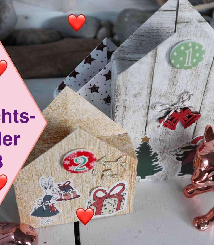 Tutorial Weihnachtskalender 2018 Haus Aus Papier Basteln Action