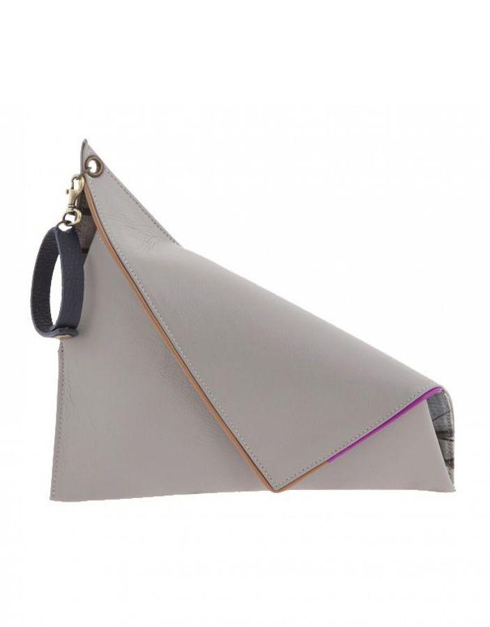 23dfa2e5c5a5 Georgina Skalidi Grey Clutch With Handle on shopstyle.co.uk