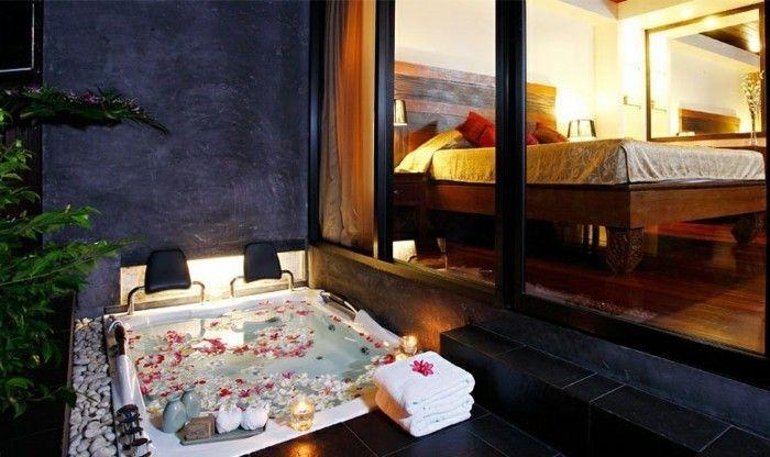 Belle Chambre Avec Jacuzzi Privatif 40 Idees Romantiques Archzine Fr Belle Chambre Idees Romantiques Jacuzzi