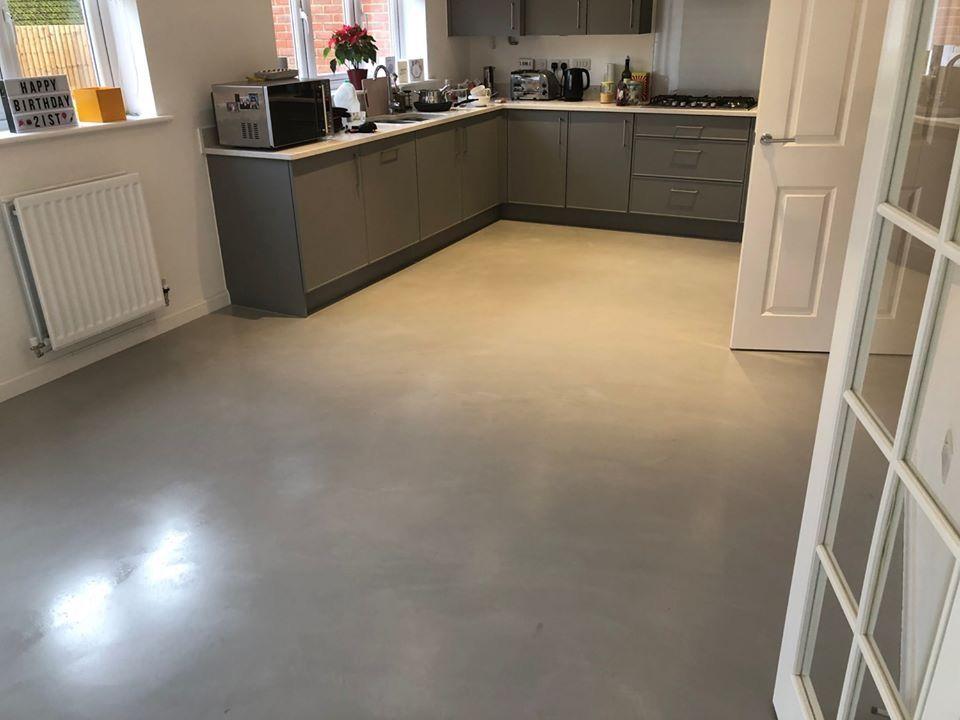 kitchen polished concrete flooring  polished concrete
