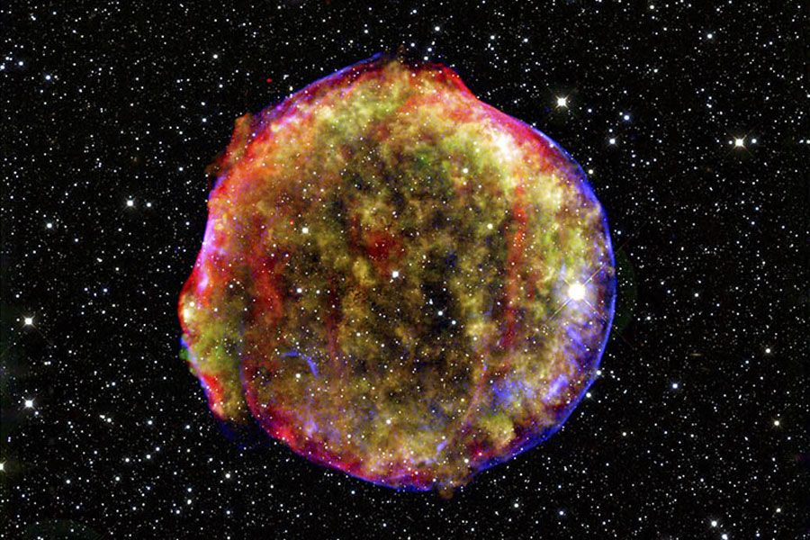 The remnant of Tycho's Supernova, an exploding star ...