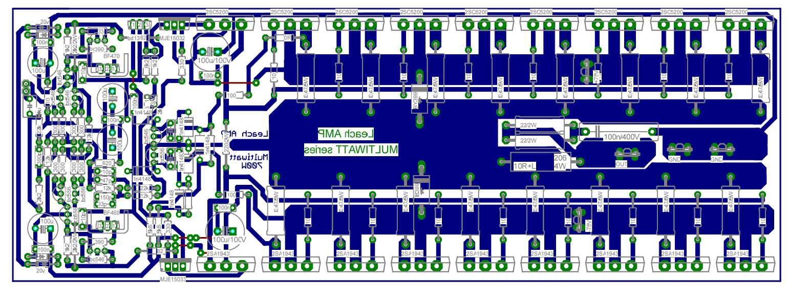 Audio Power Amplifier Circuit Diagram With Pcb Layout Mosfet Layoutrhsvlcus 584