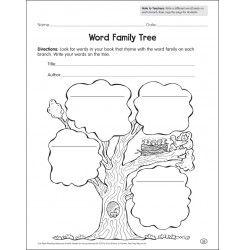 Word Family Tree: Reading Response Graphic Organizer