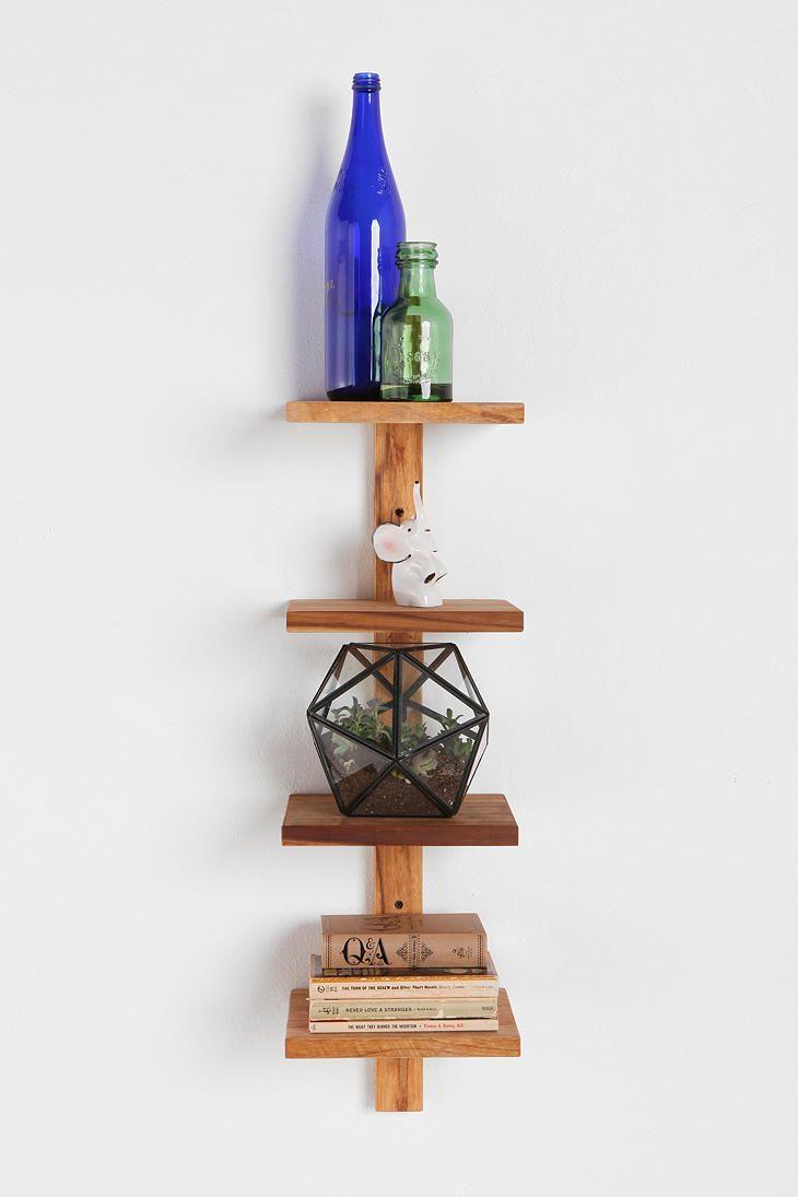 Teak spine small wall shelf repisas modernas shelves pinterest