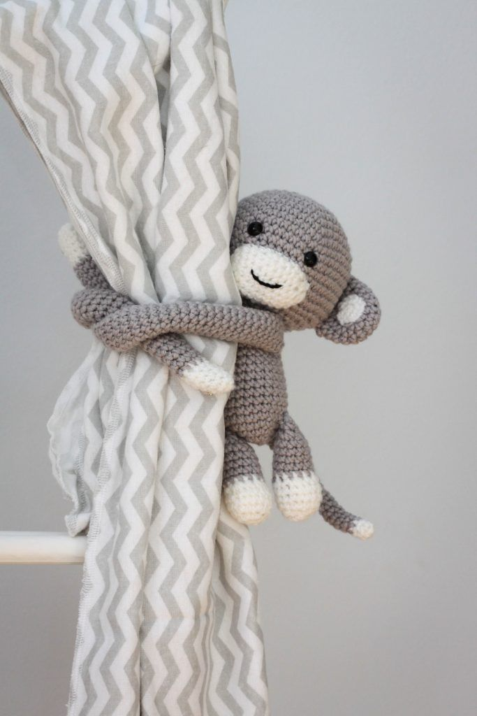 Crochet monkey curtain tie back crochet pattern | Crafts // Crochet ...
