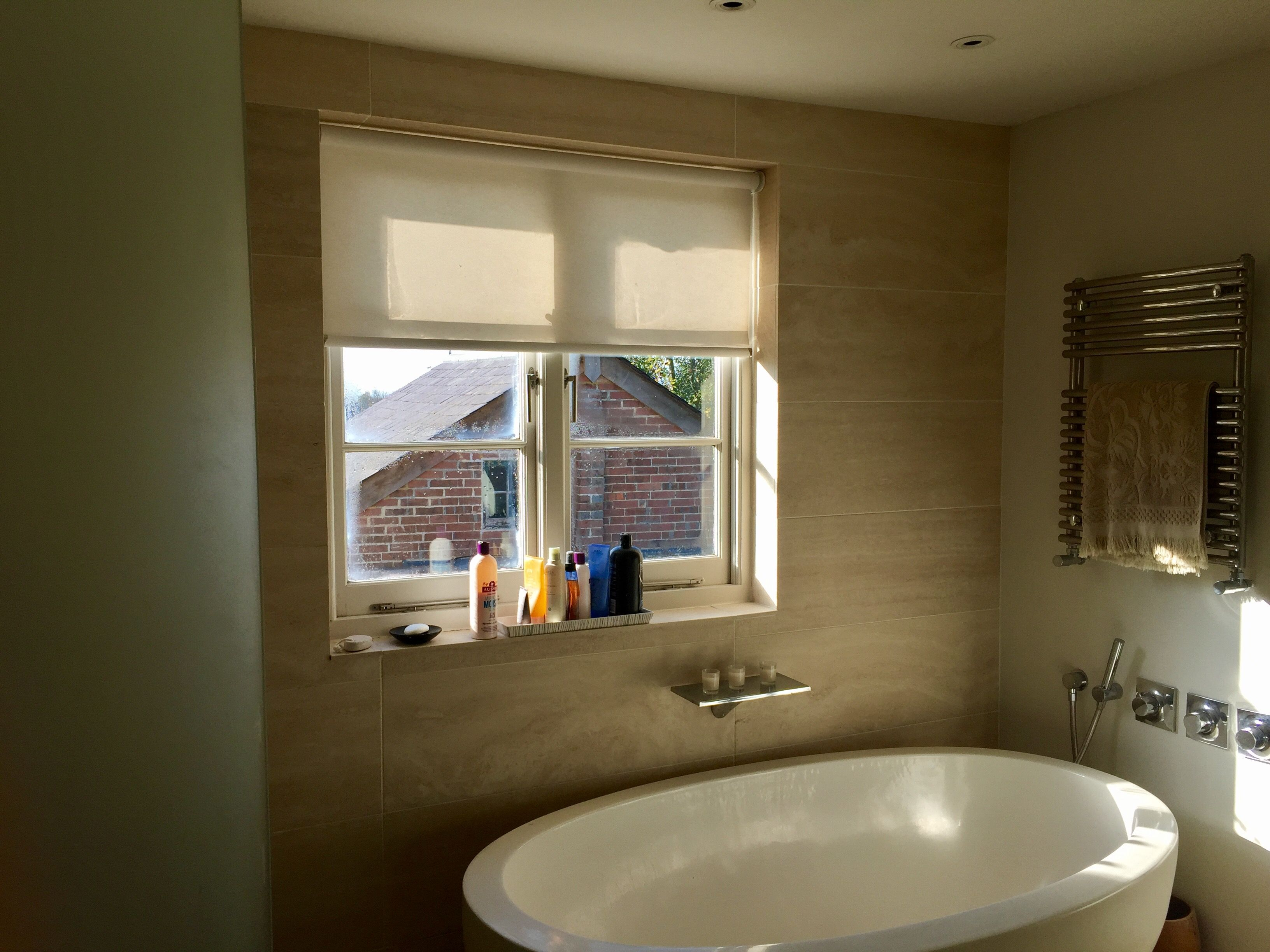 Waterproof Roller Blind For Bathroom Window | Sussex | Made To Measure