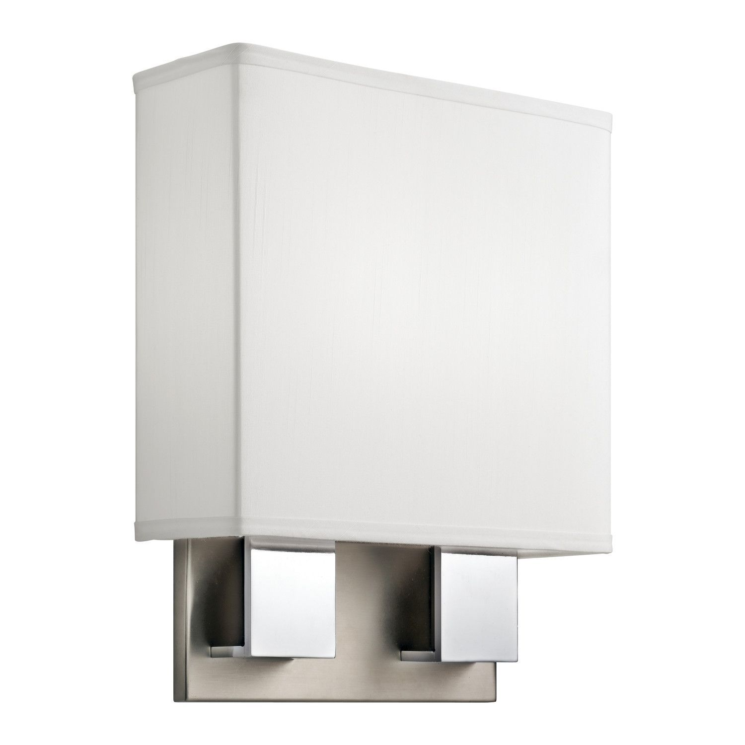 0-032475>1-Light Wall Bracket Brushed Nickel & Chrome ... on Decorative Wall Sconces Candle Holders Chrome Nickel id=19089