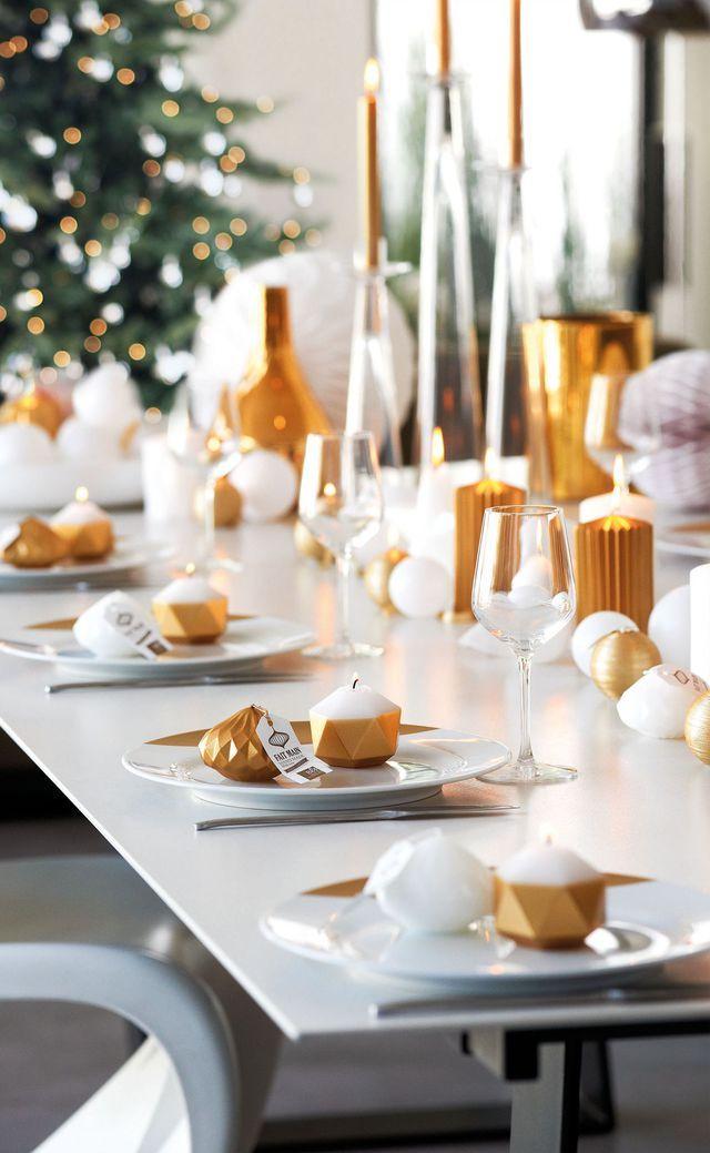 Déco Noël : 12 Idées Pour Illuminer Sa Maison Christmas Table Decorations,  Decoration Table,